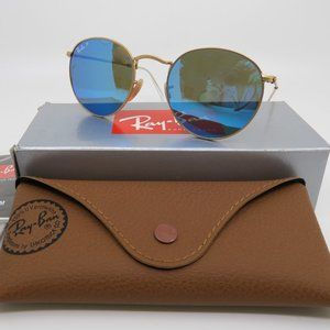 Ray-Ban RB 3447 002/4O 53mm ROUND METAL Gold/Blue